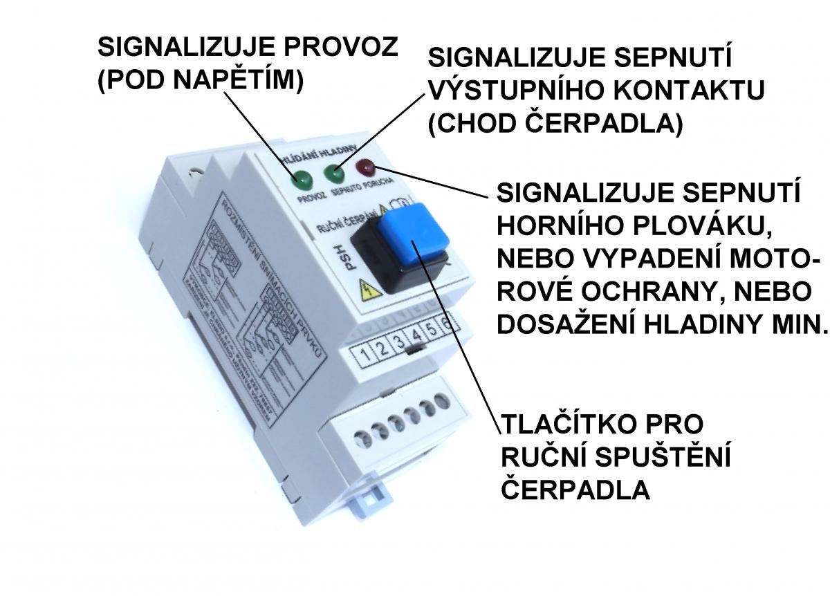 Řídící modul hladin PSH